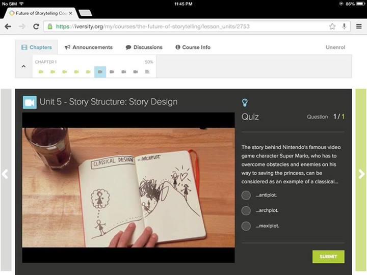 iversity - the future of storytelling